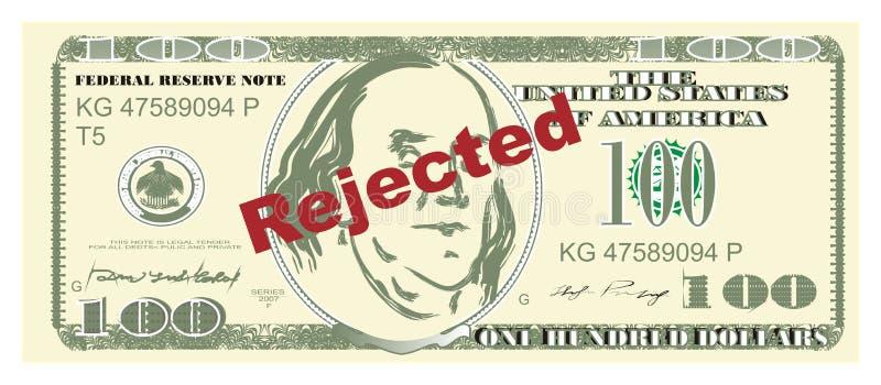 El dinero y la palabra rechazaron libre illustration