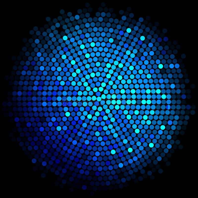 El disco azul enciende el fondo stock de ilustración