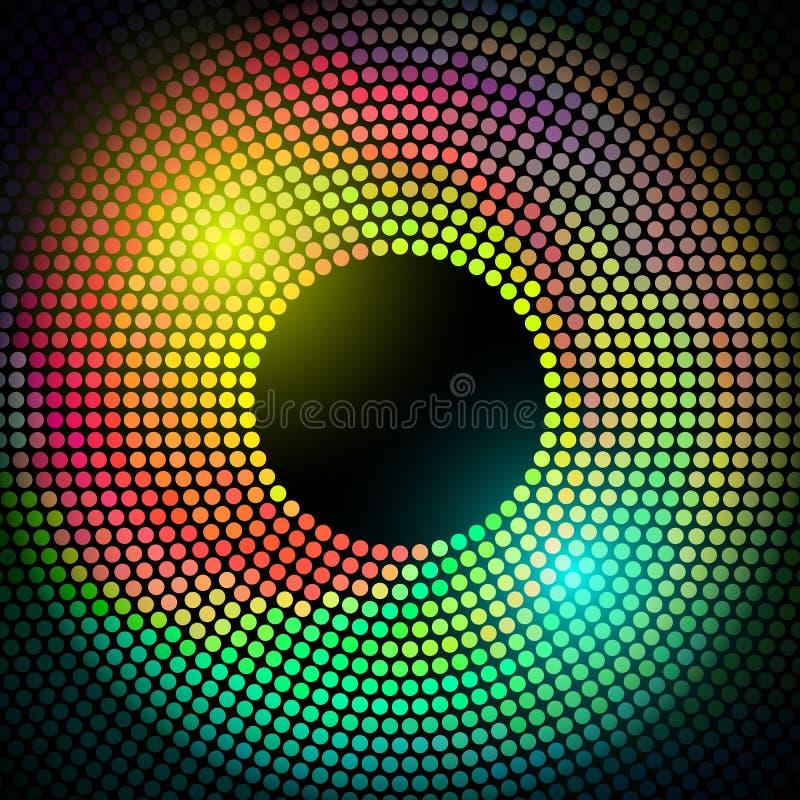 El disco colorido del vector enciende el marco ilustración del vector