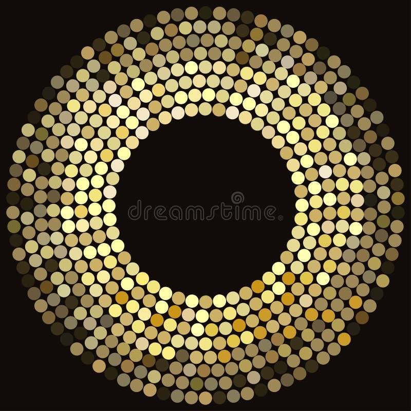 El disco de oro enciende el marco stock de ilustración