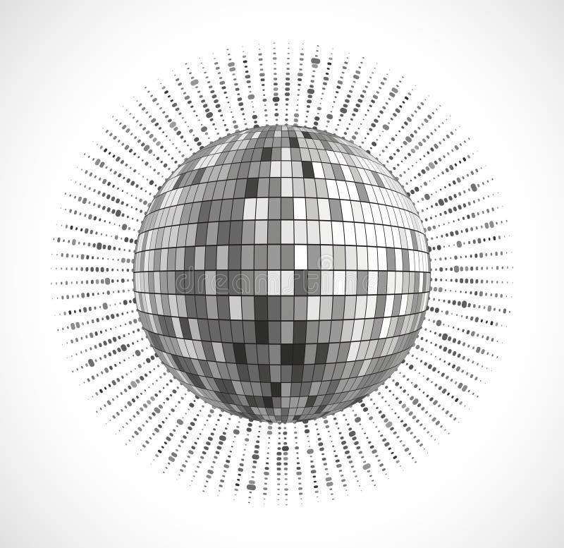 El disco de plata enciende el fondo abstracto del círculo ilustración del vector