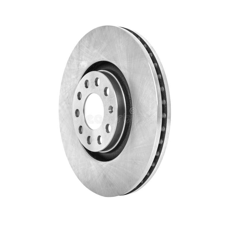 El disco del freno aislado en un fondo blanco foto de archivo