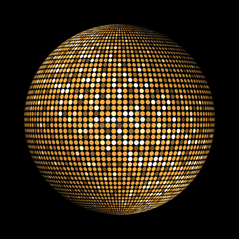 El disco del oro enciende el fondo abstracto del círculo libre illustration
