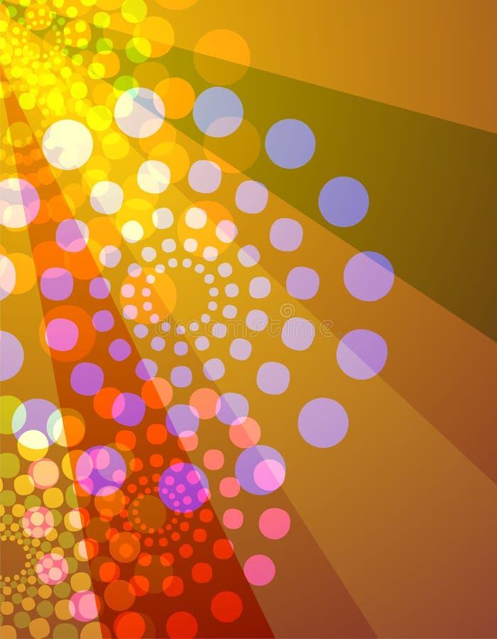 El disco enciende el fondo - naranja y amarillo ilustración del vector