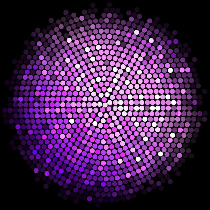 El disco púrpura enciende el fondo ilustración del vector