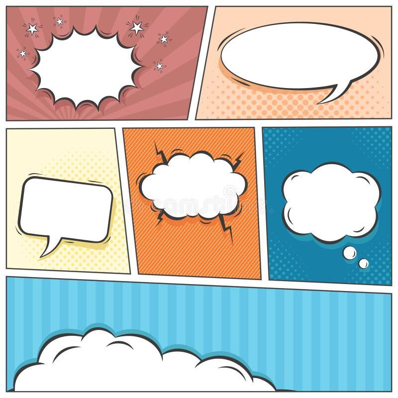 El discurso cómico burbujea fondo del vector ilustración del vector