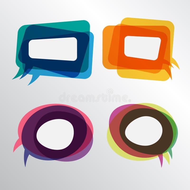 Burbujas coloridas del discurso libre illustration