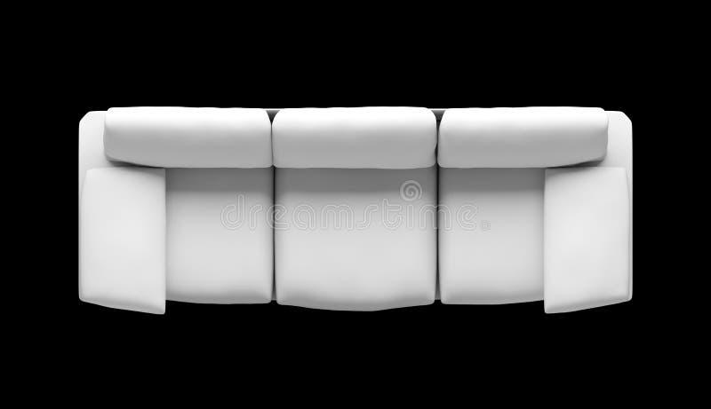 El diseñador blanco tres de la visión superior asienta el sofá con el ejemplo del resto del brazo libre illustration