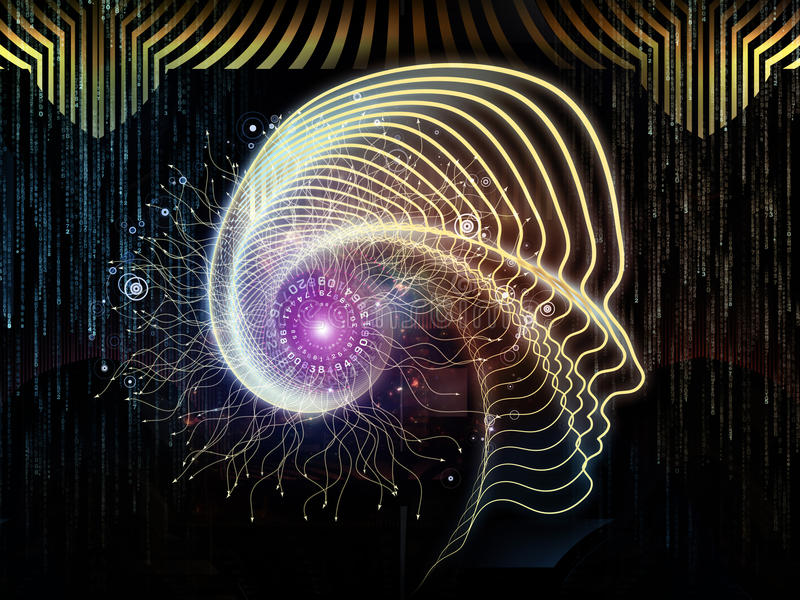 Tecnología humana metafórica ilustración del vector