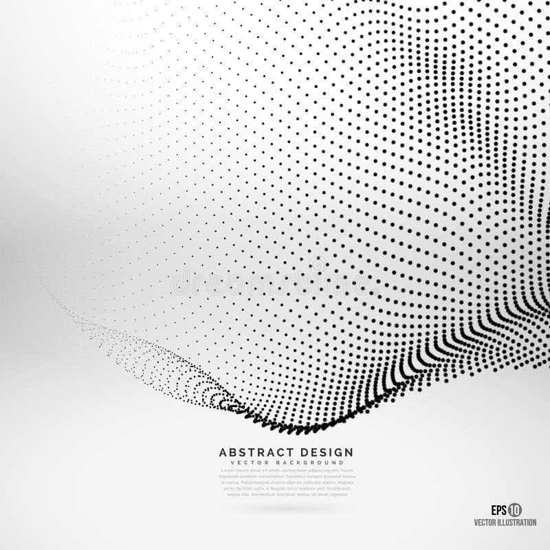El diseño abstracto puntea el fondo foto de archivo libre de regalías