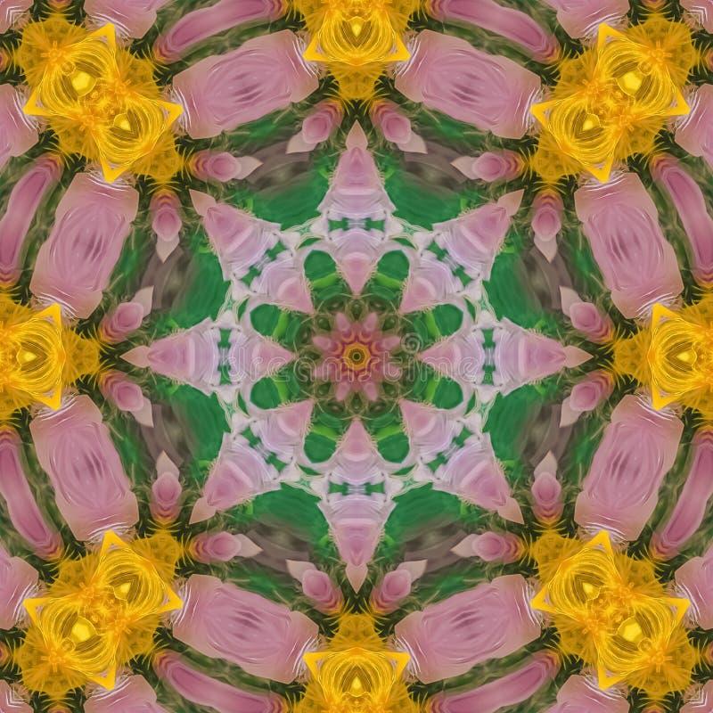 El diseño cuadrado de plumas parece la flor colorida fotografía de archivo libre de regalías