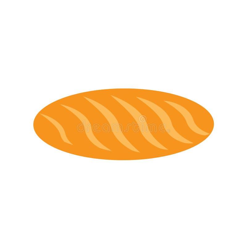 El diseño de la comida del pan del pan cuece sabroso Muestra tradicional del bocado marrón orgánico Primer hecho en casa que coci libre illustration