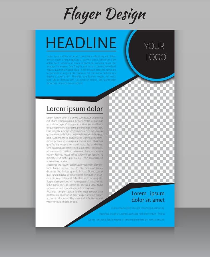 El diseño de la disposición de la revista, del aviador, del folleto y de la cubierta imprime la plantilla libre illustration