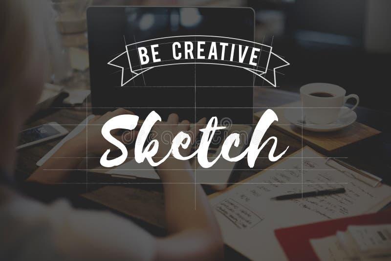 El diseño de las ideas del bosquejo conceptúa concepto del plan fotos de archivo libres de regalías