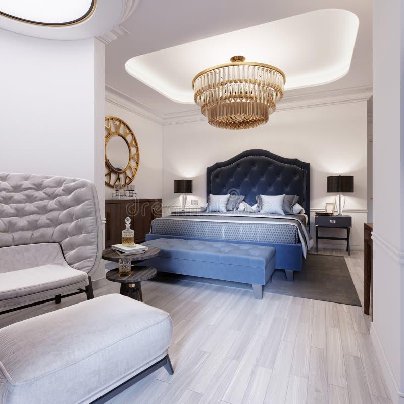 El diseño de un dormitorio lujoso en un estilo contemporáneo con a libre illustration
