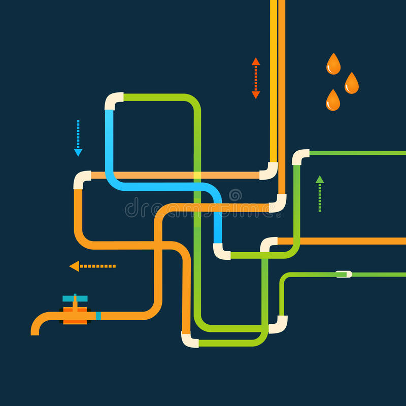 El diseño del extracto del color del vector enredado instala tubos el EPS libre illustration