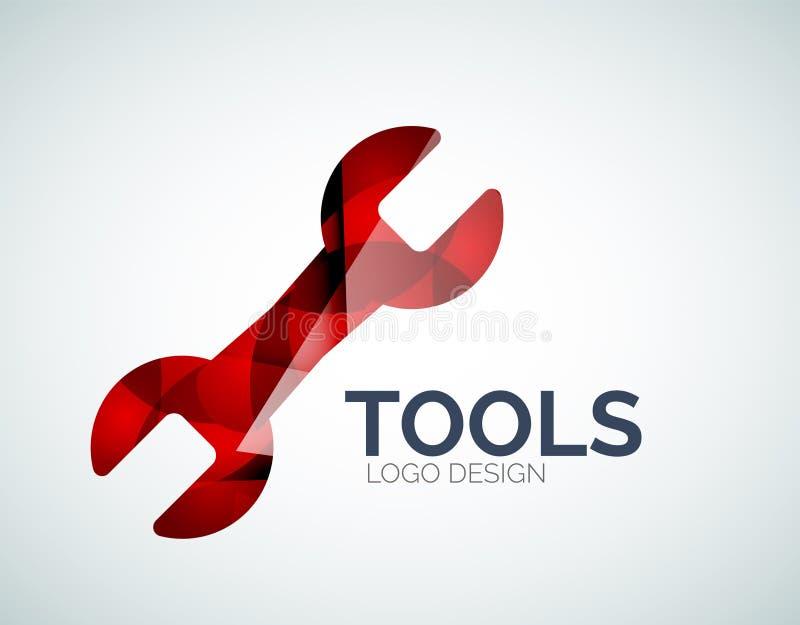 El diseño del logotipo del icono de las herramientas hecho de color junta las piezas stock de ilustración