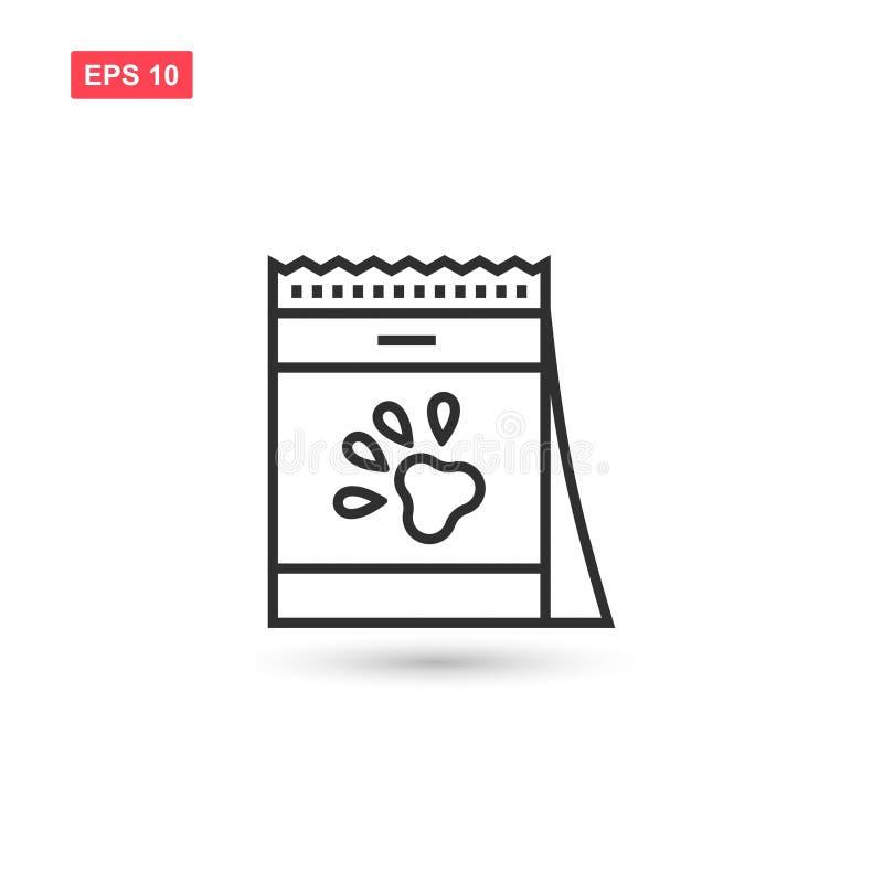 El diseño del vector del icono del bolso del alimento para animales aisló 2 libre illustration