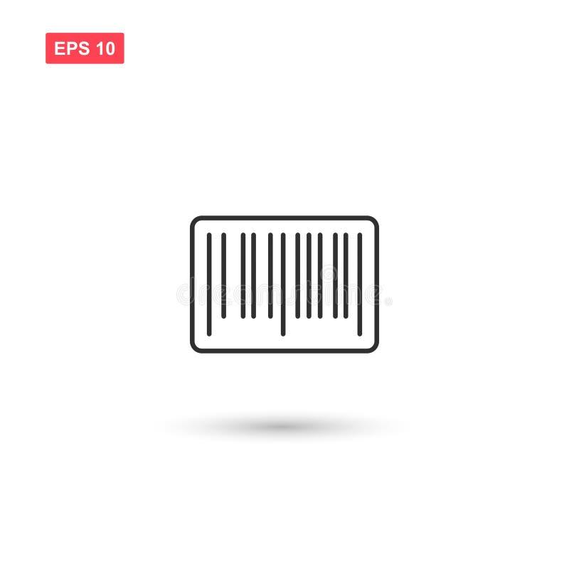 El diseño del vector del icono del código de barras aisló stock de ilustración