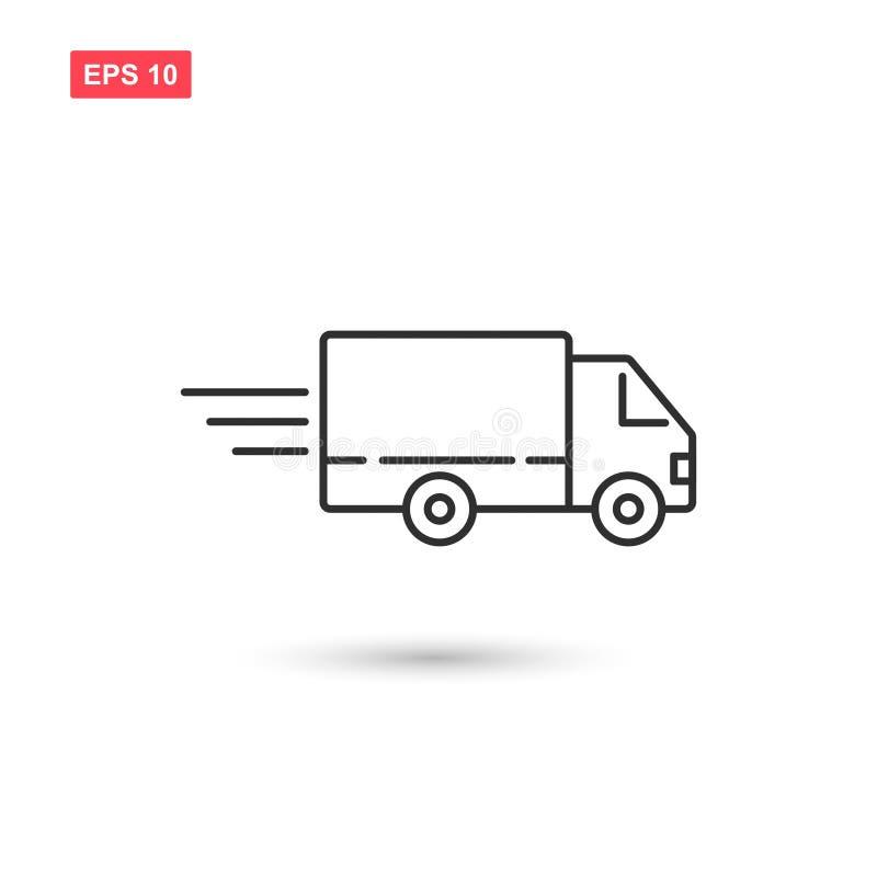 El diseño del vector del icono del camión de reparto aisló 3 stock de ilustración