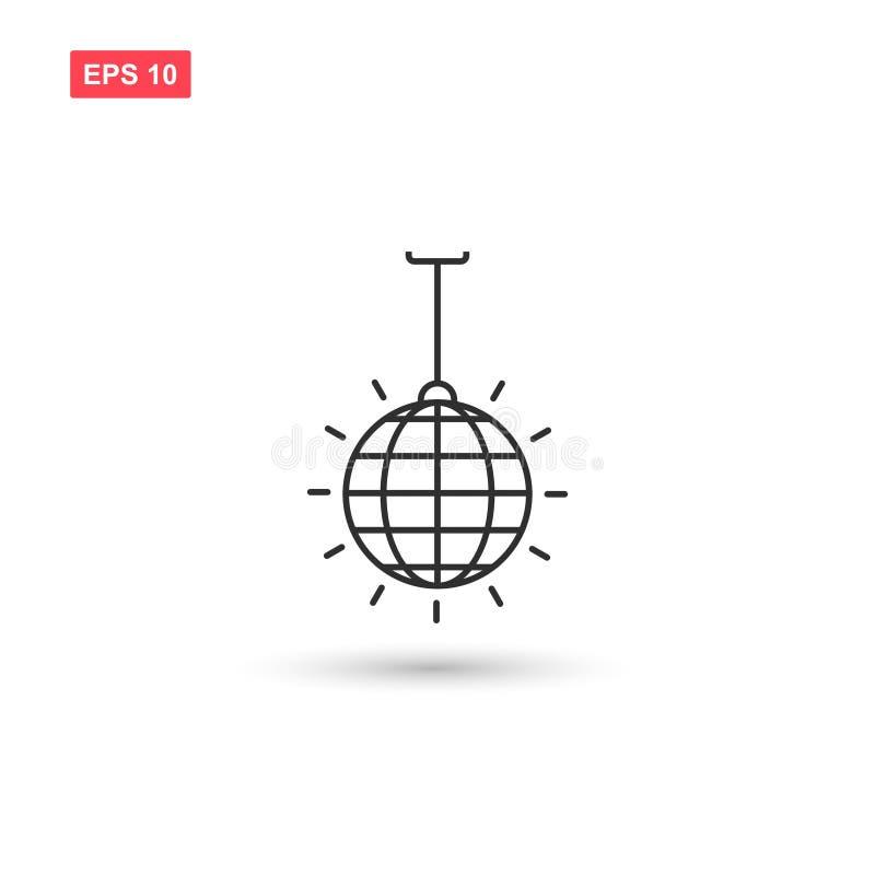 El diseño del vector del icono de la bola de discoteca aisló 3 libre illustration