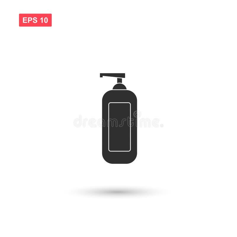 El diseño del vector del icono de la botella de la loción aisló 2 ilustración del vector