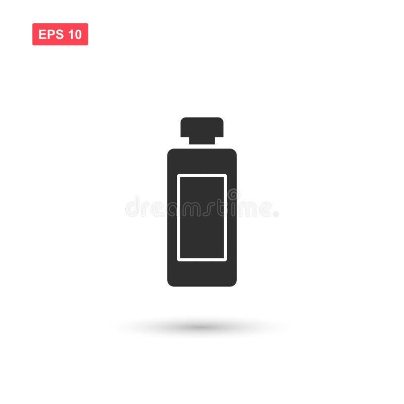 El diseño del vector del icono de la botella de la loción aisló ilustración del vector