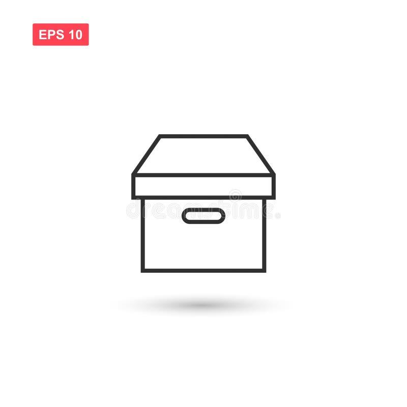 El diseño del vector del icono de la caja de cartón del paquete aisló 2 stock de ilustración