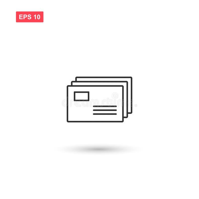 El diseño del vector del icono de los correos aisló stock de ilustración