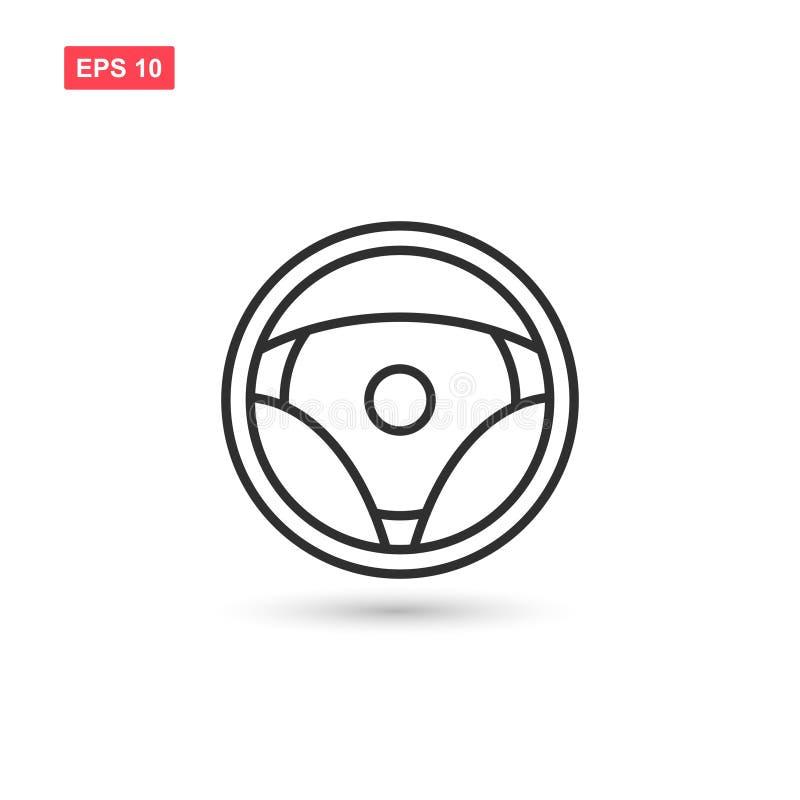 El diseño del vectyor del icono del volante aisló ilustración del vector
