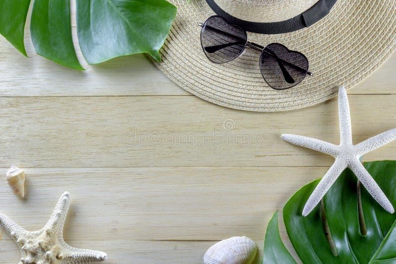 El diseño determinado de la playa del viaje tropical de las vacaciones con madera mínima artesona fotografía del fondo imagen de archivo libre de regalías