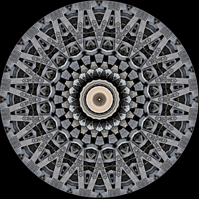 El diseño digital del arte de ornamental afiligranado talló misterioso la madera libre illustration
