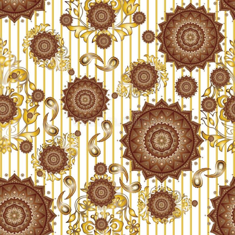 El diseño inconsútil del modelo de la materia textil para la mujer lleva libre illustration
