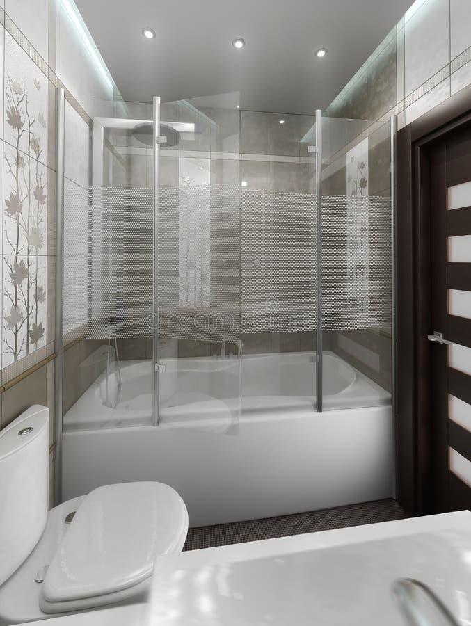 El Diseño Interior Del Estilo Minimalista Del Cuarto De Baño, Rinde ...