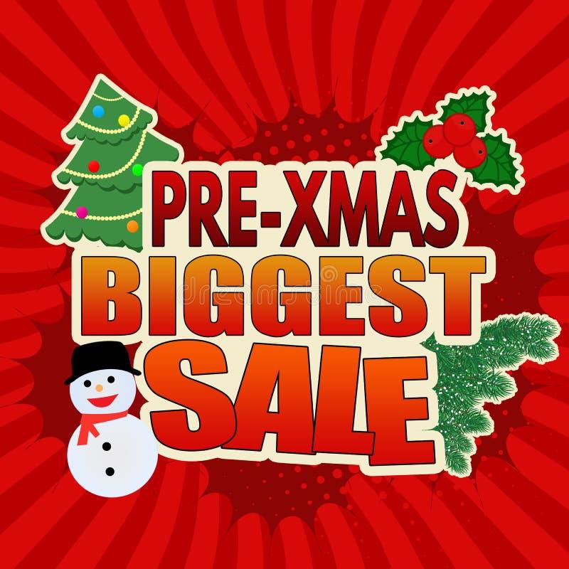 el diseño más grande de la bandera de la venta Pre-Navidad libre illustration