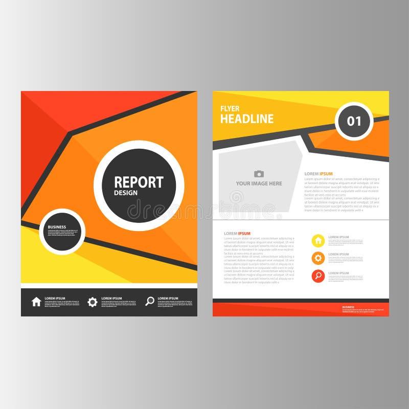 El Diseño Plano Del Informe Anual Del Amarillo Anaranjado De La ...