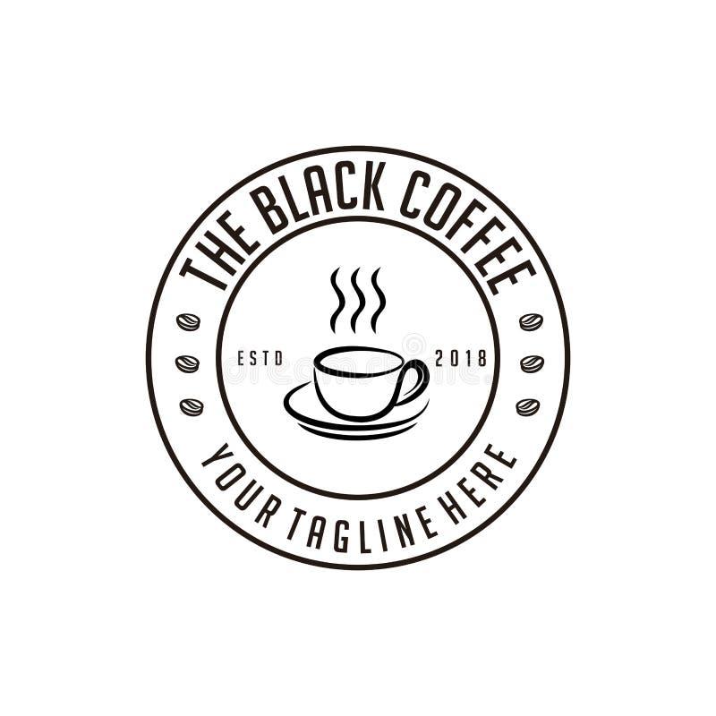 El diseño retro de la tienda del café sólo ilustración del vector