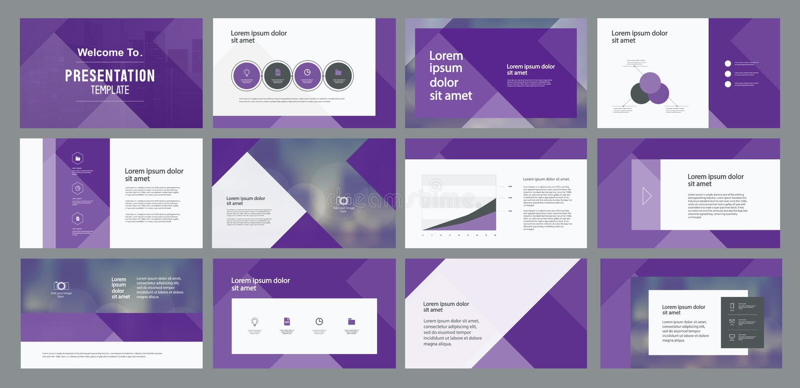 El diseño y el diseño de página de la plantilla de la presentación del negocio diseñan para el folleto, libro, revista, informe a stock de ilustración