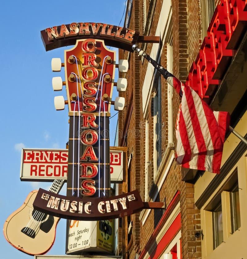 El distrito - ciudad de la música - Nashville, TN imágenes de archivo libres de regalías
