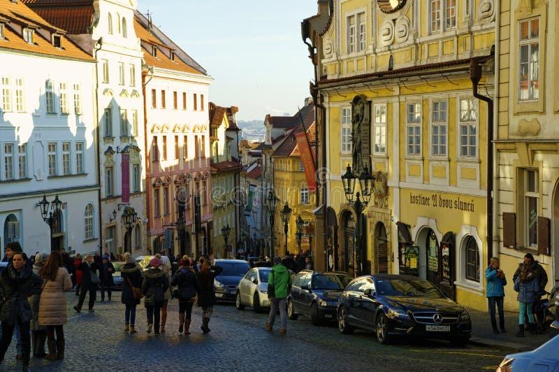 Download El Distrito Del Castillo En Praga Foto de archivo editorial - Imagen de gente, europa: 64211708