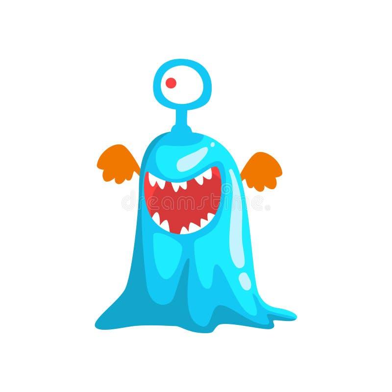 El divertido observó al monstruo fangoso, ejemplo fabuloso del vector del personaje de dibujos animados de la criatura stock de ilustración