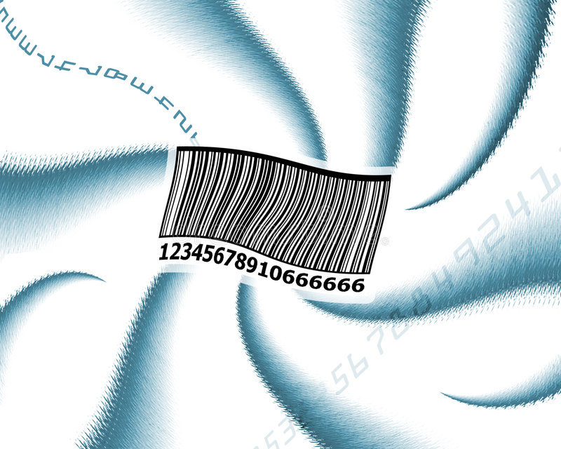 El Dizzying codebar imagen de archivo libre de regalías