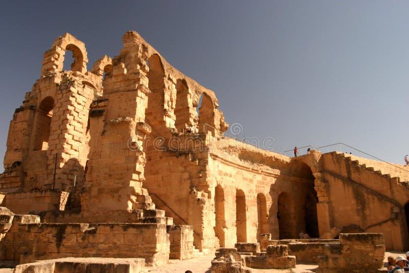 El Djem ampitheatre Tunezja zdjęcie stock