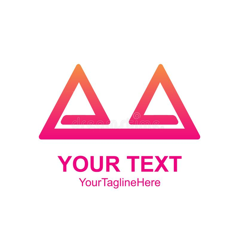 EL dobro abstrato criativo do molde do projeto do logotipo do vetor do triângulo ilustração stock