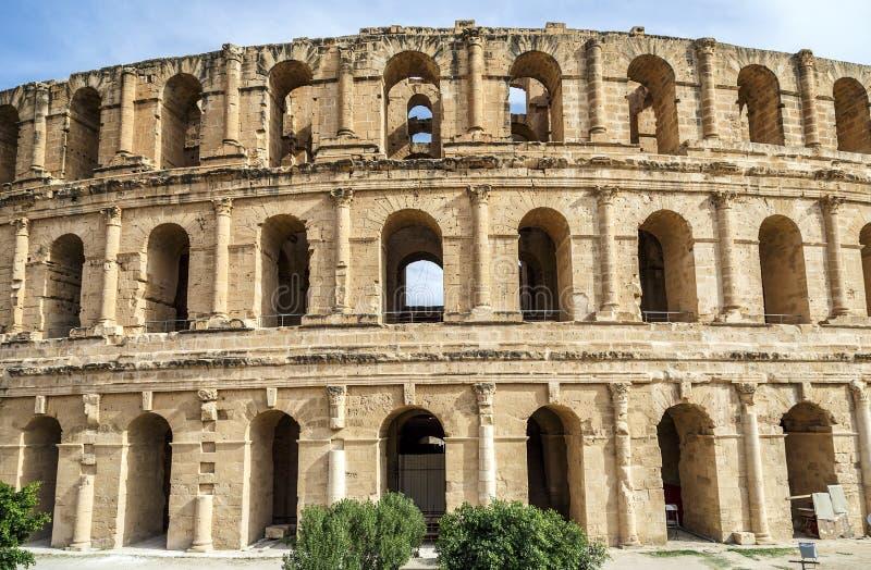 EL-doce, colosseum, Tunísia fotografia de stock royalty free