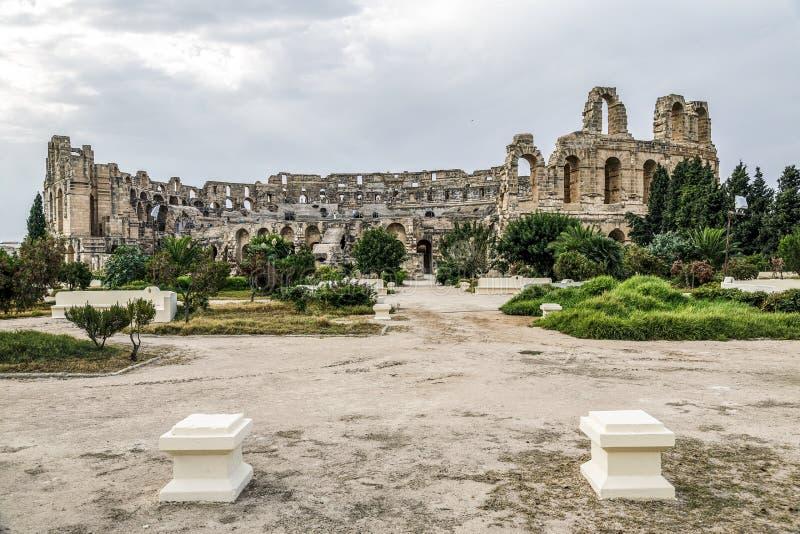 EL-doce, colosseum, Tunísia foto de stock