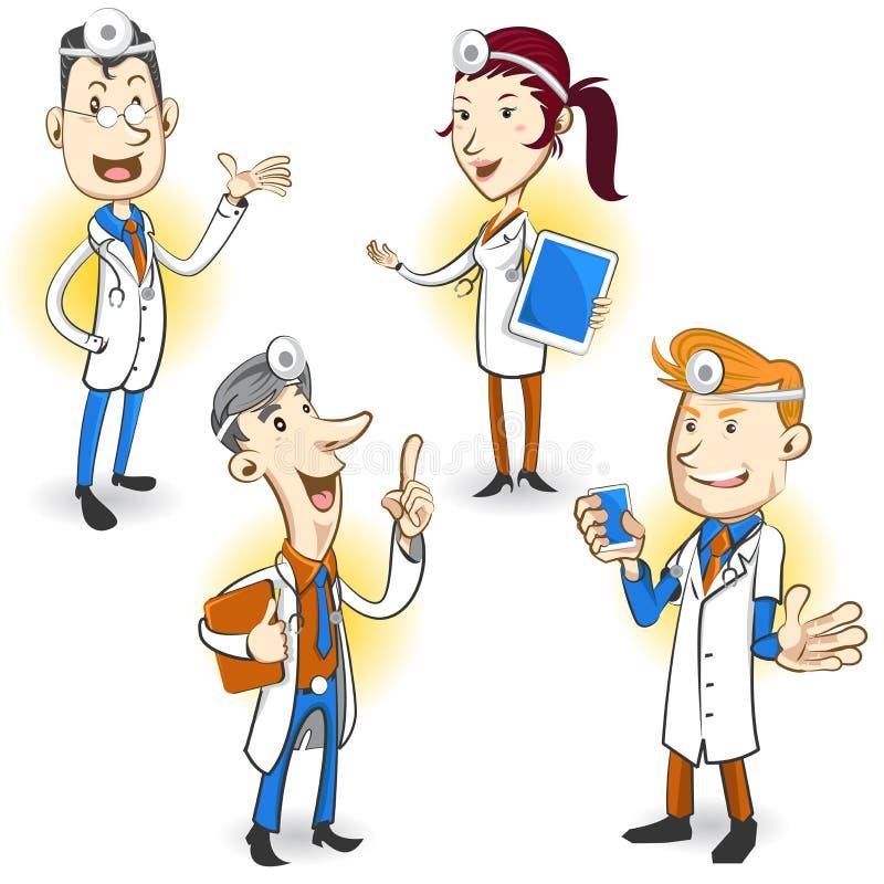 El doctor Character ilustración del vector