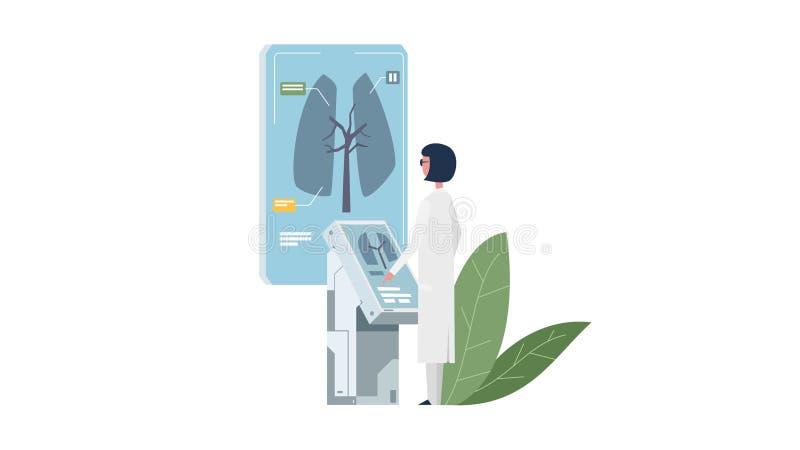 El doctor diagnostica la enfermedad stock de ilustración