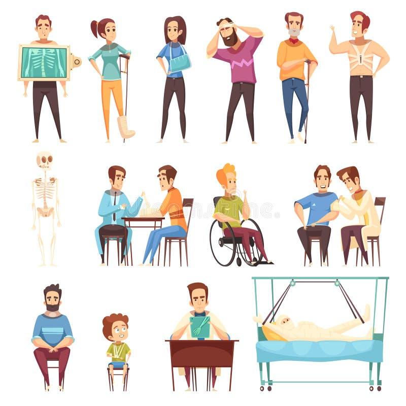 El doctor Set del ortopedista del Traumatologist stock de ilustración