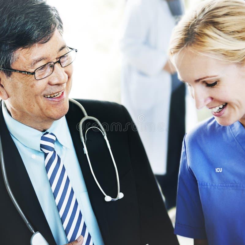 El doctor Team Diagnosis Operation Medication Concept fotografía de archivo libre de regalías